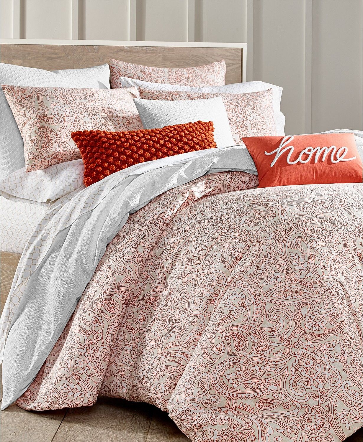 Charter Club Damask Designs Paisley Cotton 300 Thread Count 3 Pc Full Queen Duvet Cover Set Kalsona